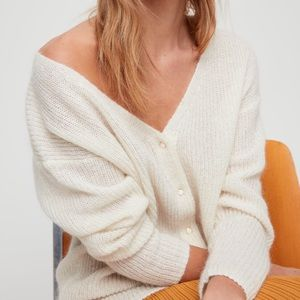 Wilfred NWT Blayne cardigan in light cream color